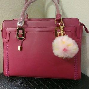 3/$25. Pink Pom Pom Key Chain